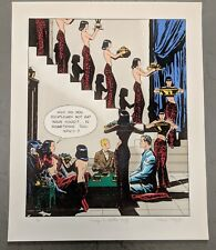 """Homage to Milton (Caniff) L.E. Lithograph of Dragon Lady, """"Terry & the pirates"""""""