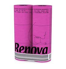 Renova [6 Rolls Fuschia] 3 Ply Soft Colour Toilet Loo Bathroom Tissue Rolls