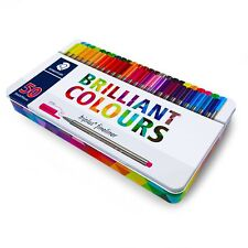 Staedtler Triplus Fineliner 334 M50 0.3mm 50 Brilliant Colours Ink Pen Metal Tin