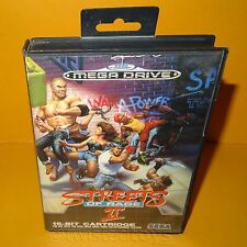 Vintage 1992 SEGA Mega Drive Streets of Rage II 16-BIT Cartucho Video Juego PAL