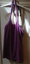 "Ladies Medium 14"" PUMA Halter Top Shirt Violet Mix Purple Sleeveless -Runs Small"