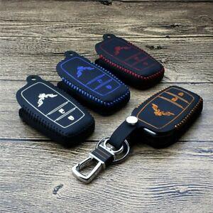 Leather Key Cover Car Key Fob Bag Case Wallet for Toyota Verso RAV4 Land Cruiser