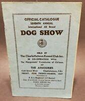 Vintage 1949 Dog Show Guide Charlottetown PEI