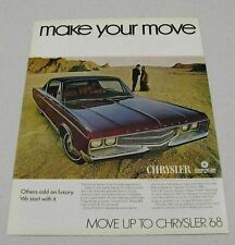 1967 Print Ad The 1968 Chrysler New Yorker 2-Door Make Your Move