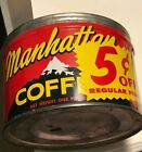 Manhattan  Coffee Red And Black Alpine Scene Coffee Can  No Lid