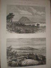Sketches in the Troad Turkey tomb of Achilles and Dardanus 1878 prints ref Y1
