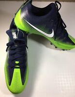 Men's Nike Cleats Green Blue Football VPR  Size 13 Vapor Untouchable 839924 (i55