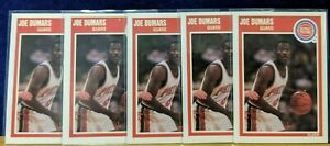 Vintage Lot of 5X 1989-90 Fleer #45 Joe Dumars HOF 1980s Detroit Pistons Motor