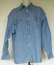 Pastille Blue Denim Long Sleeve Button-Down Shirt L Made in USA