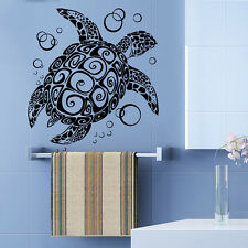 Turtle Wall Decal Nautical Vinyl Sticker Animal Bubbles Art Bathroom Decor KI138