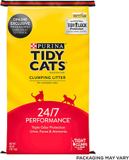New listing Purina Tidy Cats Clumping Cat Litter, 24/7 Performance Multi Cat Litter - 40 lb.