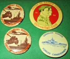 Lot of 4 Vintage Canada Canadian Forces Collectible Button Pins 1984 Corps Cadet