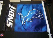 NFL NWT CAR WINDOW FLAG - DETROIT LIONS