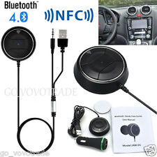 Bluetooth Hands-Free Stereo Car NFC AUX Kit Built-in Mic for Smartphone MP3/4