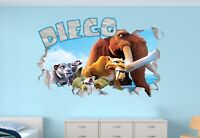 Ice Age Customize Your Name Custom Vinyl Stickers 3D Wall Decals Name Art MAR319
