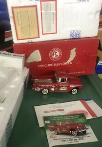 Franklin Mint 1998 Christmas Truck 1955 Chevy Pick-up