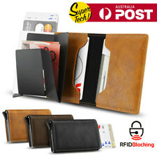 New Leather Credit Card Holder Men's Money cash Wallet Clip RFID Blocking Purse