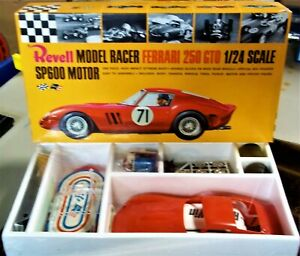 REVELL VINTAGE 1/24 1/25 NEW FERRARI 250 GTO RED SLOT CAR CHASSIS BOX + COX AMT