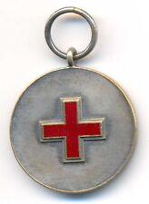 Estonia Estonian Red Cross Silver Enamel Medal 1926 - 1936 Type 2 RARE