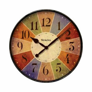Westclox 12 in. L x 12 in. W Indoor Casual Analog Wall Clock Multicolored 32897