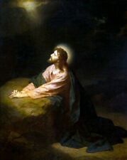 """Christ in Gethsemane"" Jesus Art Print 8""x 10"" Christian Photo 57"