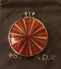Silpada Natural Shell Sterling Silver Pendant Sundial S1840