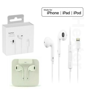 Genuine Lightning Earphones Apple iPhone 7 8 Plus 12 Mini 11 Pro Max Earpods
