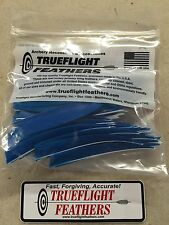trueflight 12.7cm plumes aile gauche Shield Découpe Paquet de 100 Bleu