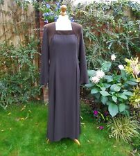 Vintage Marion Donaldson Velvet Crepe Long Dress Brand New With Tags 12/ 14