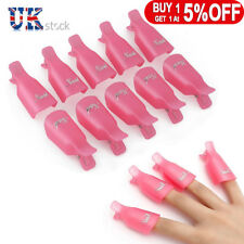 UK NEW Plastic Nail Soak Off UV Gel Art Polish Remover Wrap Gelish Clip Cap 10X