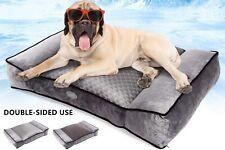 Pecute Large Dog Bed | 102 cm x 69 cm | Shredded 20 cm Memory Foam