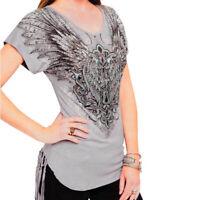 Harley-Davidson® Women's Wing Sing Sing Embellished Short Sleeve Tee