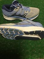 Wmns Saucony Omni ISO Silver / Blue / Navy Running Size 7 New With Defects