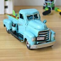 1:12 Vintage Metal Truck Christmas Ornament Kid Gifts Toy Table Top Decor Model