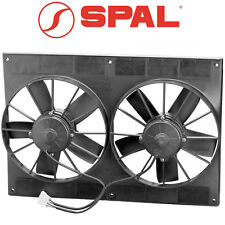 """SPAL 11"""" Dual High Performance Paddle Blade Fans 12 Volt Puller 2720cfm 30102052"""