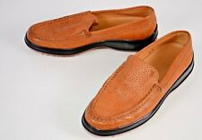 Tod's Women's Driving Shoes Sz 6.5 Italy Perforated Brown Gommino Casual Slip On