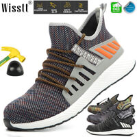 Mens Womens Safety Shoes Steel Toe Cap Work Boots Outdoor Breathable Sneakers