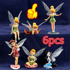 6pcs Tinker Bell Fairies Figures Cake Topper Secret Wing Girl Kids Party Toy  XA
