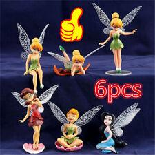 6x Tinkerbell Fairy Birthday Figure Cake Topper Figurine Garden Decor Toys   XA