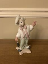 Clown With Umbrella Porcelain Figurine by Lladro Golden Memories