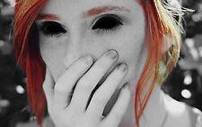 Framed Print - Possessed Gothic Girl with Black Eyes (Horror Picture Demon Art)