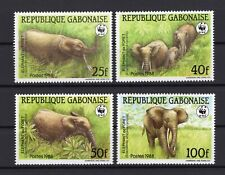 WWF gabon Wild Animals Elephant set clean MNH block of 4