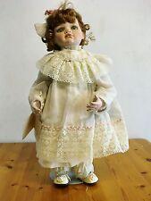 "Hamilton Collection Virginia Ehrlich Turner Doll AMELIA Green Eyes 20"" Porcelain"