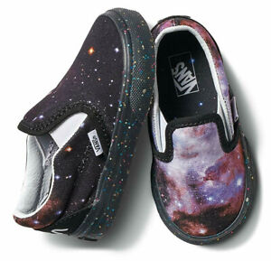 Vans Infant Toddler X NASA Space Voyager Galaxy Classic Slip-On Shoes