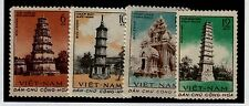 North Viet Nam Sc 170-3 NH issue of 1961 - Ancient Towers