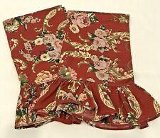 Ralph Lauren Marseilles Danielle Red Floral Pillowcases Set 2 Standard