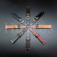 18-24 MM Genuine Soft Leather Watch Band Strap Brown Black Fits for Breitling