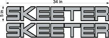 "SKEETER Boats Logos / PAIR / 34"" GRAY Vinyl Vehicle Boat Graphic Decal Stickers"