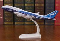 New 20CM Solid Lufthansa BOEING 747 Passenger Airplane Plane Metal Diecast Model