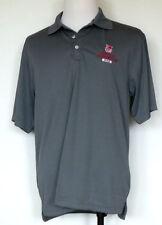 Central Washington University CWU Dad Gray Polyester S/S Golf Polo Shirt L